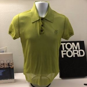 Jean Paul Gaultier Soleil Men's Sheer Green Shirt